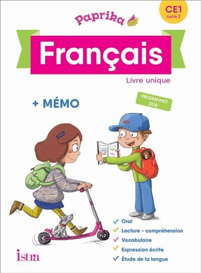 Livre Paprika Francais Ce1 Cycle 2 Livre Unique Memo