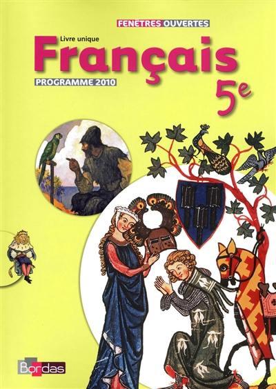 Decouvrez Francais 5e Livre Unique Chez Bordas